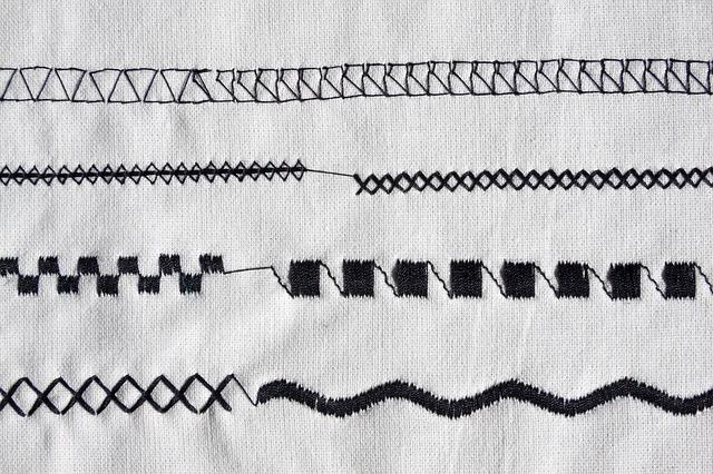 různé druhy šití