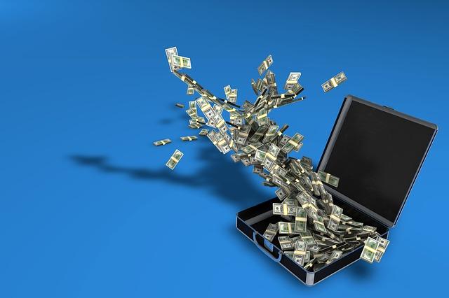 letící peníze